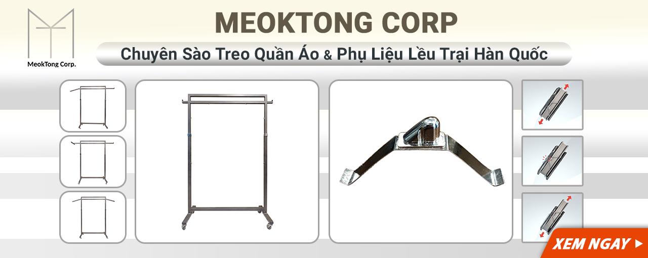 MEOKTONG CORP Chuyên Sào Treo Quần Áo Và Phụ Liệu Lều Trại Hàn Quốc Banner Web Desktop